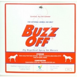 BUZZ OFF FLY REPELLENT SPRAY FOR DOGS AND HORSES
