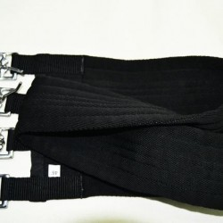 GIRTH COTTON PADDED BLACK EQUISPORT