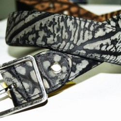 BELT 297B 30MM DOUBLE LEATHER EMBOSSED