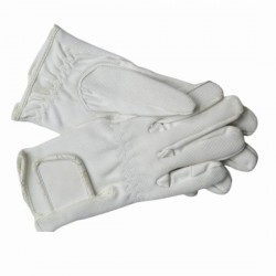 EQUISPORT GLOVES WHITE LARGE