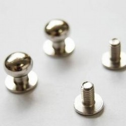 BUTTON STUD SCREW TYPE 6MM 1321-01 NICKLE PLATED  SAM BROWN STUDS