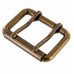 BUCKLE ROLLER TWO PRONG BRASS 50MM