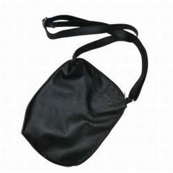 LEATHER SLING BAG BLACK