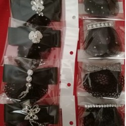 HAIRNET | BUN NET WITH BOW AND CLASP CODE 708310