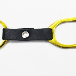 KEY RING STIRRUP WITH LEATHER CP