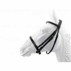 BRIDLE CAPRIOLE PLAIN BLACK NO REINS