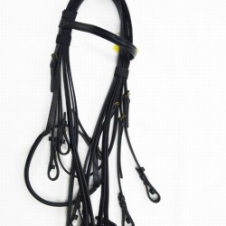 BRIDLE DOUBLE EQUIBETTE RAISED BLACK FULL