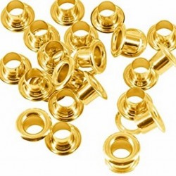 BOOT EYE LID 4MM BRASS PER 100 WITH OUT WASHERS