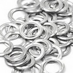 BOOT EYE LID 4MM WASHER NICKLE PER 10