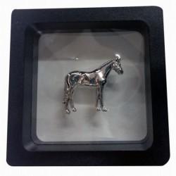 PIN HORSE SILVER 3D