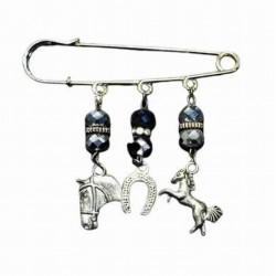 PIN CHARM HORSE AND HORSESHOE
