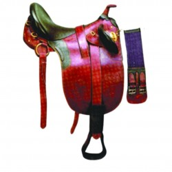 SADDLE STOCKMAN  WITH HORN
