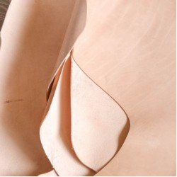 LEATHER SIDES VEG TAN NATURAL GRADE1 PER DM 3 TO 3.2MM