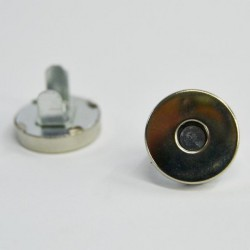 MAGNETIC BUTTON 15MM SILVER